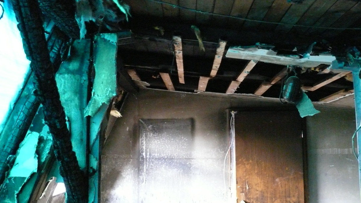 Der Zustand des Dachbodens vor der Sanierung