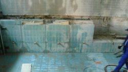 Wand teilweise abgetragen
