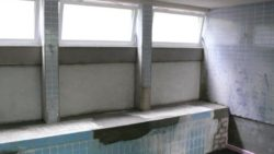 Zur Bekleidung vorbereitete Flächen- Auffüllung mit Schaumglasschotter