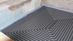 Fußbodenheizung im ehemaligen Beckenbereich