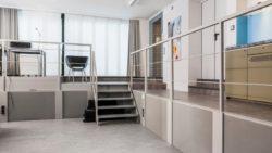 Das fertige Altelier mit Zugängen, Bürobereich und Besprechung