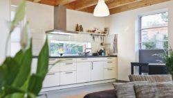 Die Küche mit einem starken Außenbezug.