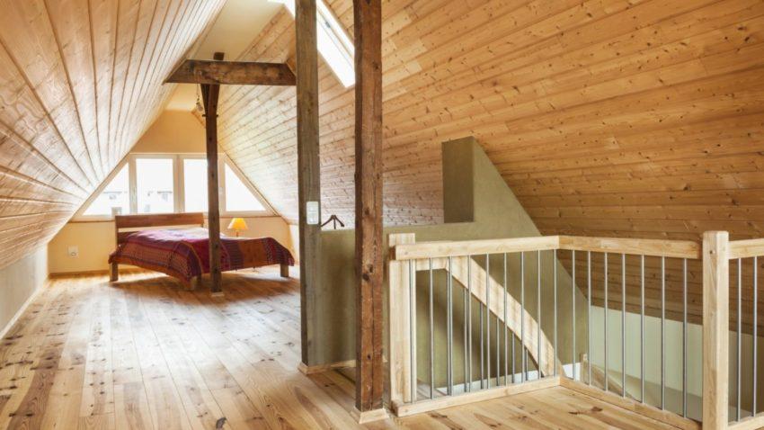 Der Dachboden im neuen Gewand; ein großzügiger, heller Raum mit behaglicher Wirkung