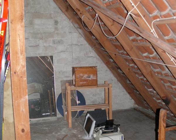 Dachboden vor Ausbau