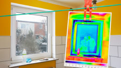 thermal imaging used for analysing a room